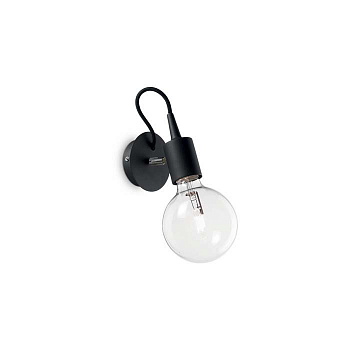 Бра Ideal Lux EDISON AP1 NERO 148908 - фото и цена в Гродно